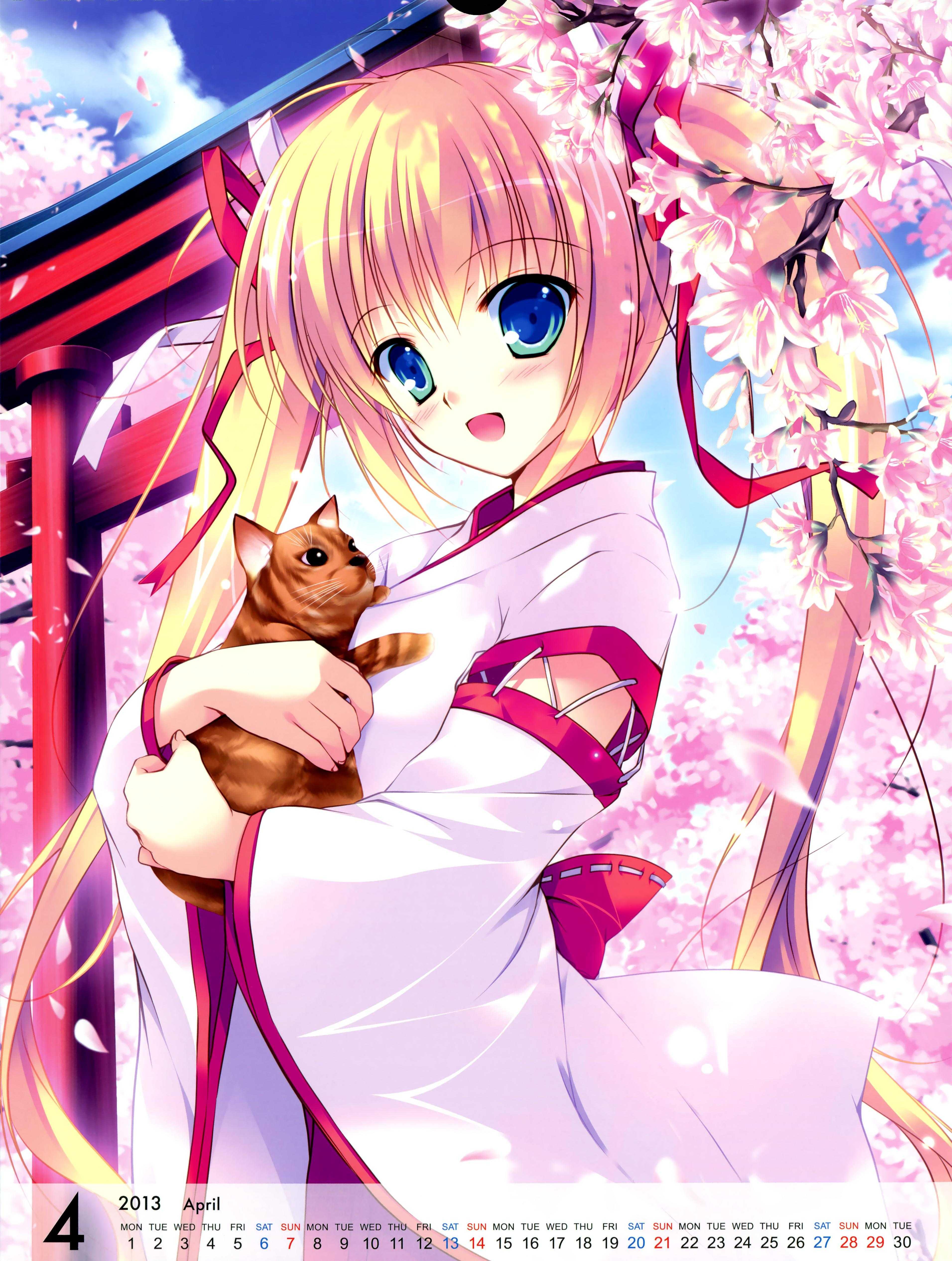 yande.re 240205 calendar mikeou miko neko pink_chuchu